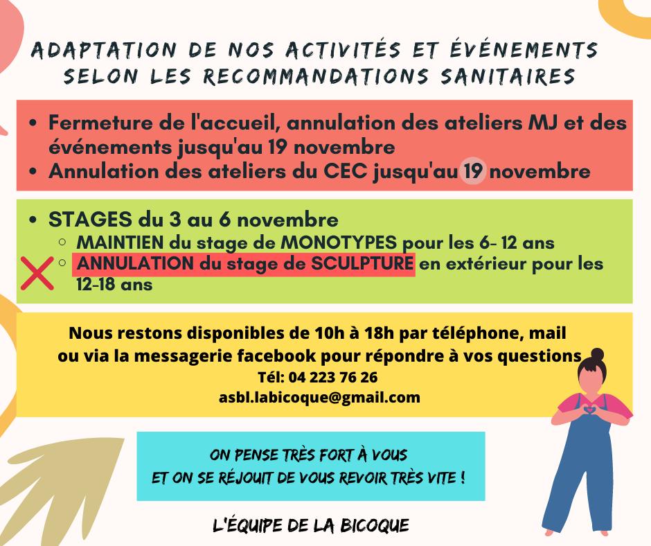 Version finale- Adaptation de nos activités et événements selon les mesures COVID_19