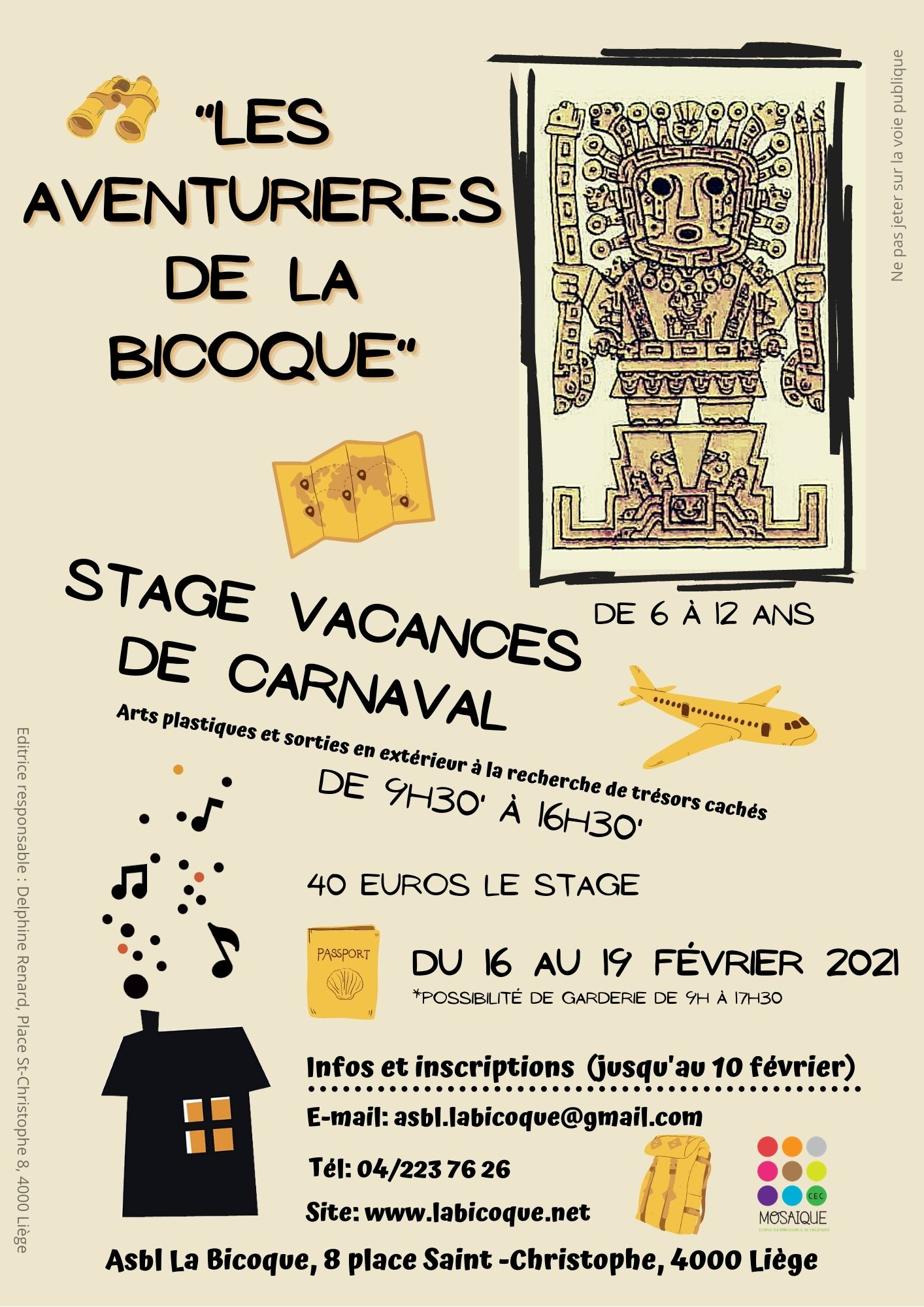 Stage vacances de Carnaval